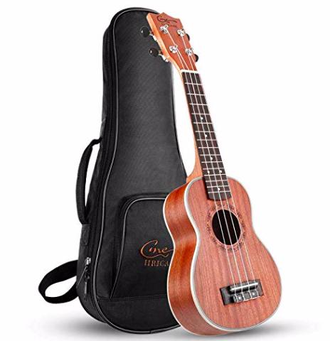 Hricane Ukulele - 21 Zoll Sopran Hawaii-Gitarre mit Tasche zu 33,59€ mit Versand