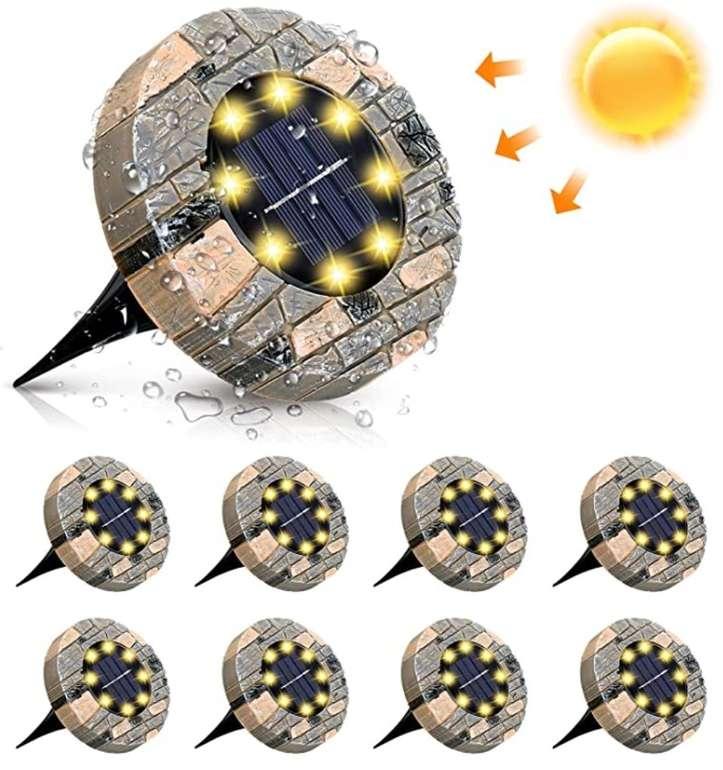 8er Pack Glime Solarleuchten (8 LEDs und IP65-Schutz) für 13,49€ inkl. Prime Versand (statt 15€)