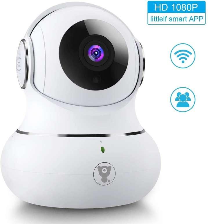 2 Littleelf Überwachungskameras bei Amazon reduziert, z.B. 1080P WiFi Kamera mit Nachtsicht für 28,19€