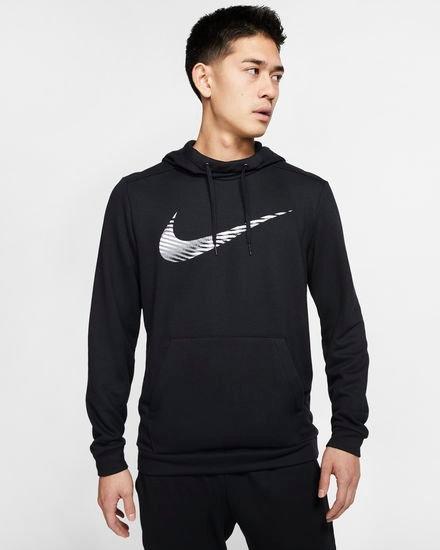 Nike Dri-FIT Trainings-Hoodie für Herren in Schwarz und Grau für 27,98€ inkl. Versand (statt 40€) - Nike Membership