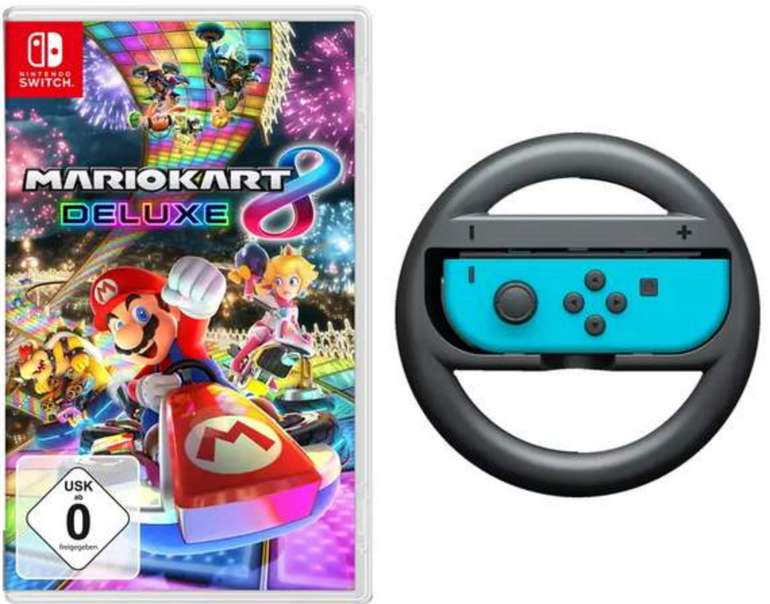 Mario Kart 8 Deluxe - Nintendo Switch + Joy-Con für 52,98€ inkl. Versand (statt 64€)