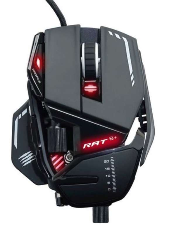 Mad Catz R.A.T. 8+ Gaming-Maus (kabelgebunden) für 64,95€ inkl. Versand (statt 90€)