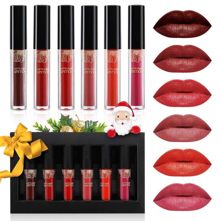 Luckyfine Lipgloss Set mit 6 Farben (matt) für 7,13€ inkl. Prime Versand