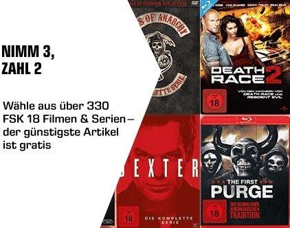 Saturn: 3 für 2 Aktion mit FSK 18 Filmen und Serien (Blu-ray & DVD)