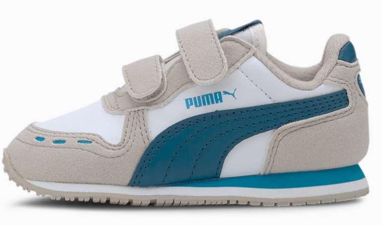 Puma Cabana Racer SL Baby Sneaker in Weiß/Blau für 13,61€ inkl. Versand (statt 20€)