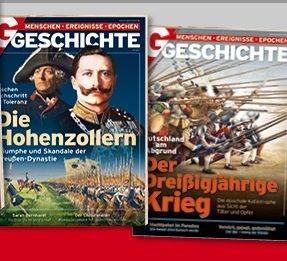 Probeabo: 4 Ausgaben G/Geschichte für 4€ inkl. Versand + 1 Heft gratis bei SEPA
