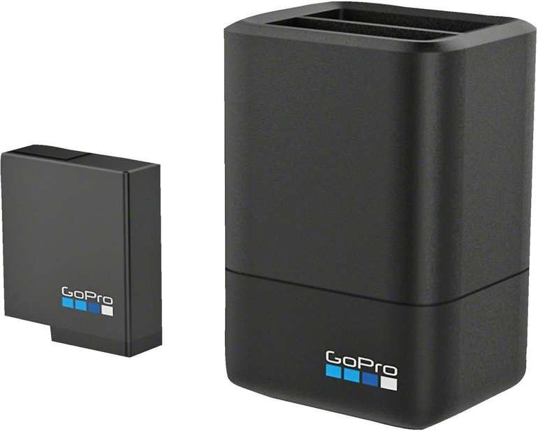 GoPro Dual Battery Charger + 1.220 mAh Akku (HERO 5 - HERO 7) für 27,70€ (statt 55€)