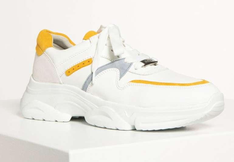 Gabor Damen Sneaker (43.470.23) in weiß/senf für 41,21€ (statt 63€)