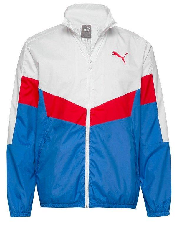 Puma Herren Trainingsjacke in blau/rot/weiß für 25,42€ inkl. Versand (statt 37€)