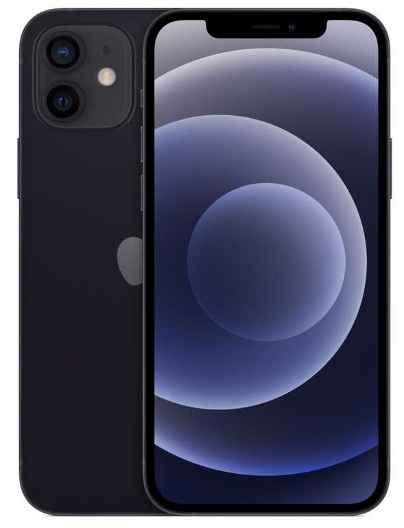 Apple iPhone 12 in schwarz mit 64 GB (99€) +  o2 Free L Allnet Boost mit 120 GB 5G/LTE für 44,99€ mtl.