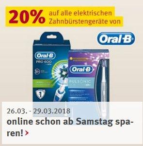 Aktuelle ROSSMANN Angebote & Coupons - z.B. 20% auf elektr. Oral-B Zahnbürsten