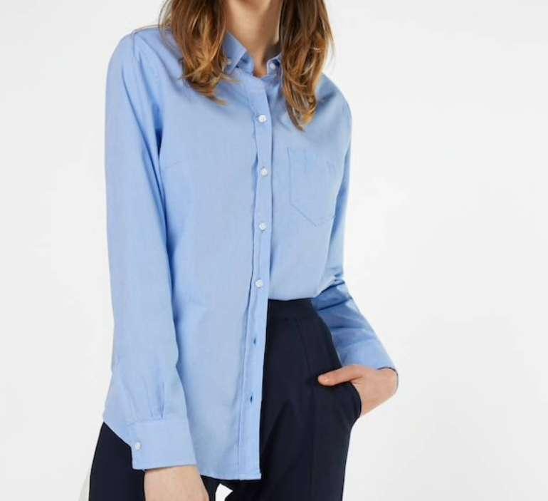 GAP Klassische Damen Bluse in hellblau für 12,67€ inkl. Versand (statt 30€)