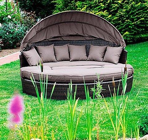 Merxx Relax-Sonneninsel Riva Braun mit 180cm für nur 359,99€ (statt 439€)