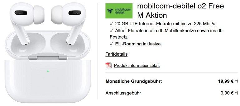 mobilcom debitel o2 Free M Allnet-Flat 20GB LTE