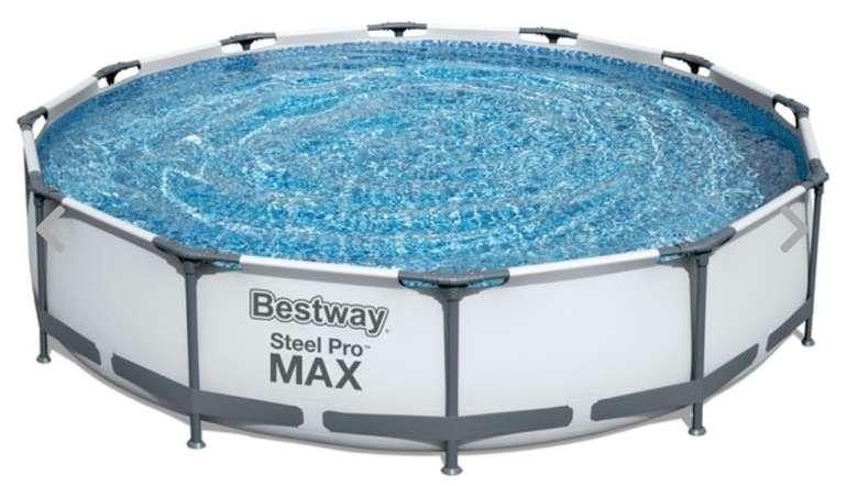 Bestway 56416 Steel Pro Max Frame Pool Set (366 x 76cm) mit Filterpumpe für 119,99€ (statt 172€)