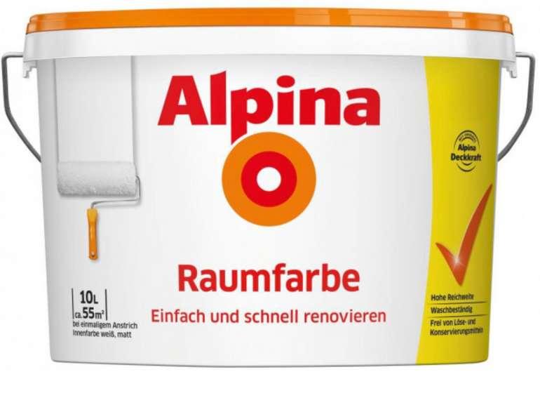 Alpina Raumfarbe weiß (10 Liter) für 23,50€ inkl. Versand (statt 37€)