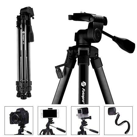 Fotopro 3-Bein Stativ mit einer Höhe von bis zu 157cm für nur 22,19€ mit Prime