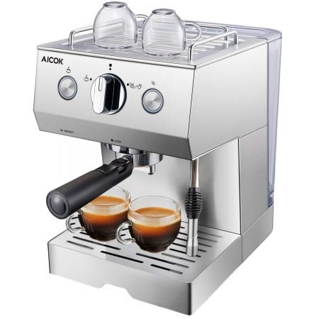 Aicok 15 Bar Espressomaschine für 69,99€ inklusive Versand (statt 118€)