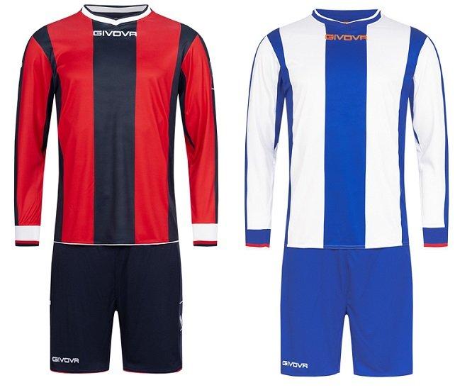 Givova Kit Line Fußball Set Langarm Trikot + Shorts (nur Größe M) für 7,28€