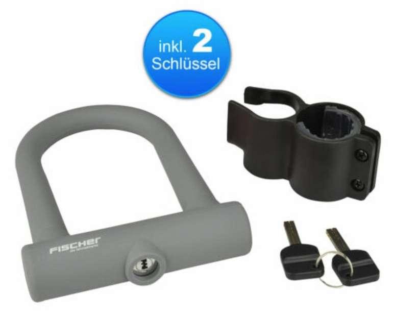 Fischer Fashion Bügelschloss (U-Fahrradschloss + Halterung + 2 Schlüssel Ø15mm) für 12,99€ (statt 17€)