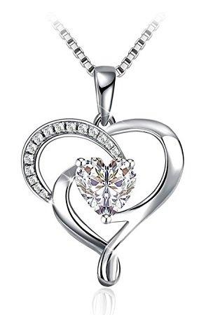 J.Rosée Damen Halskette mit Zirkonia Herzanhänger für 16,70€ mit Prime