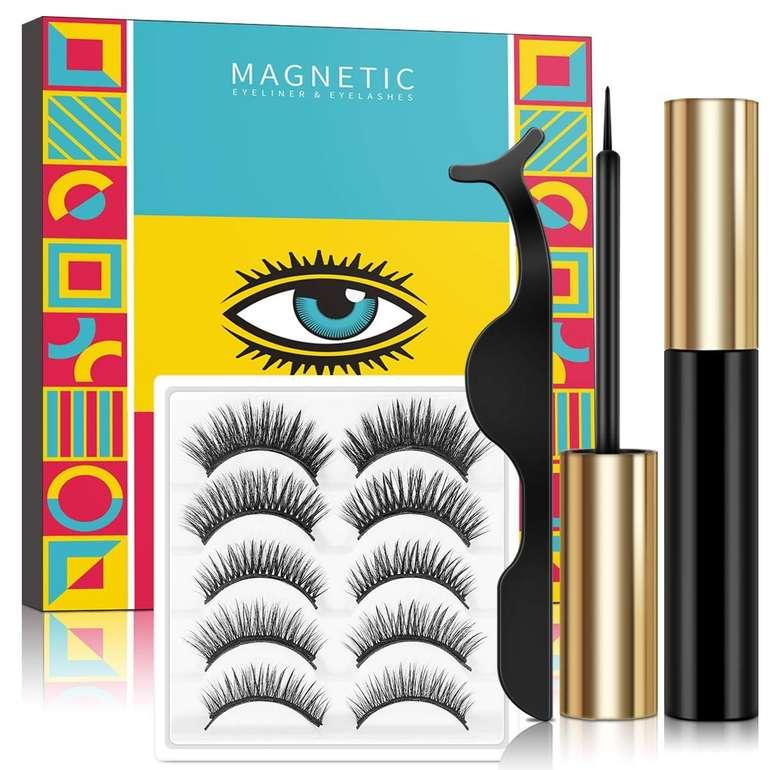 Lorchar magnetische Wimpern Set (5 Paar, Eyeliner + Pinzette) ab 6,88€ inkl. Prime Versand (statt 16€)