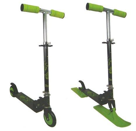 2in1 Scooter (max. 100kg) mit Rollen und Schlittenkufen für 19,99€ inkl. VSK