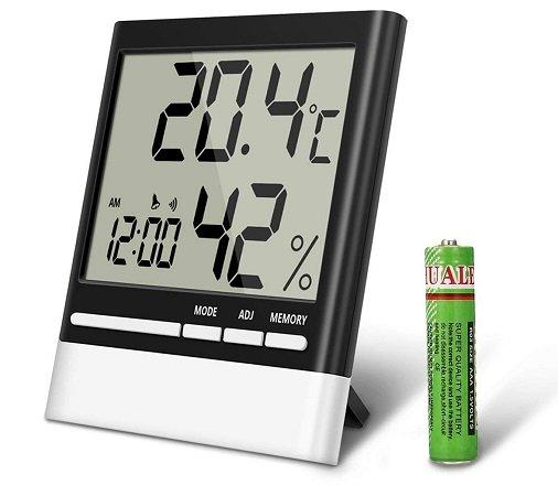 Eivotor digitales Hygrometer mit LCD Anzeige für 7,07€ (Prime)