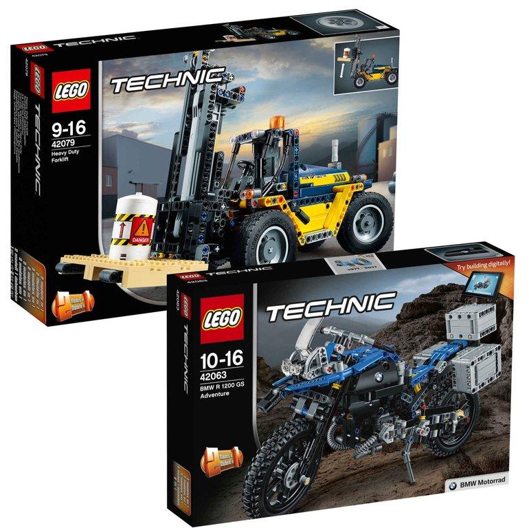 Lego Technic Bundle: Gabelstapler 42079 + BWM GS Adventure 42063 für 66,98€