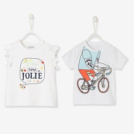 Vertbaudet Mädchen oder Jungs T-Shirt je nur 2€ zzgl. 2,95€ VSK