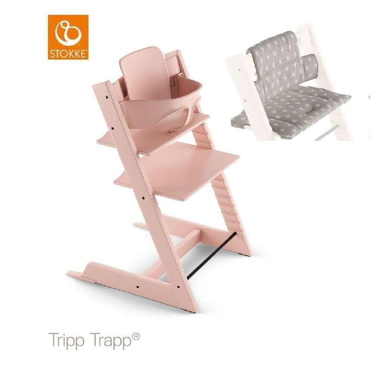 Stokke Tripp Trapp Hochstuhl in Pink inkl. Sitzkissen & Baby Set für 195,21€ inkl. Versand