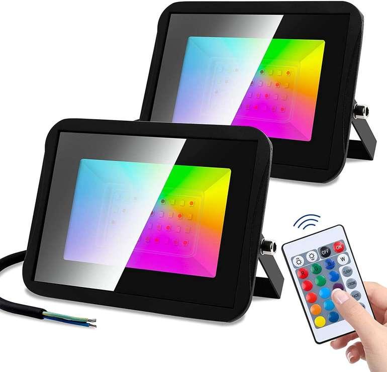 Wolketon RGB LED Strahler reduziert, z.B. 20W für 19,55€ (statt 33€)