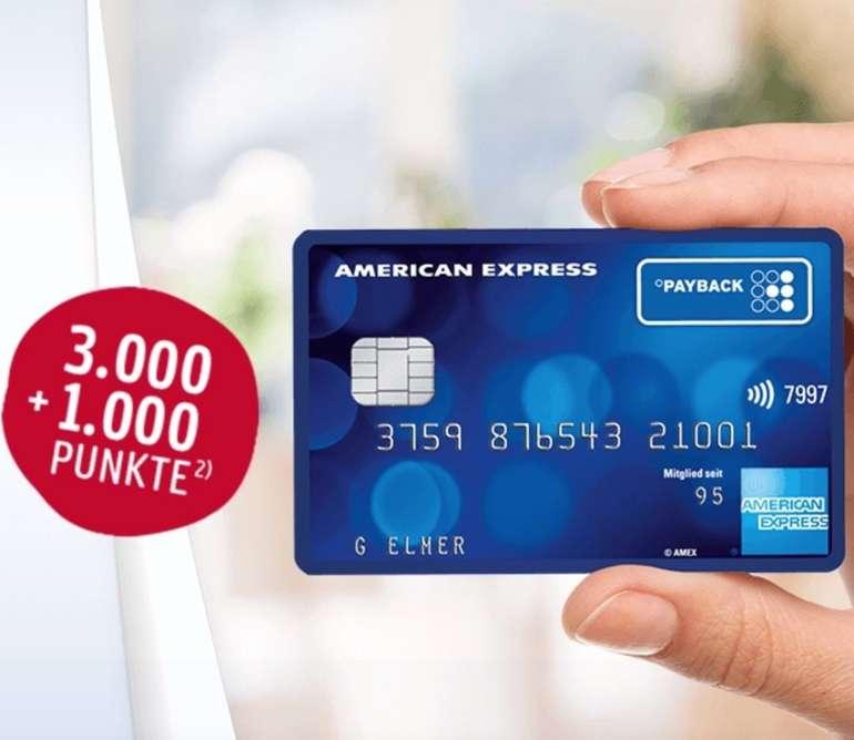 Dauerhaft kostenlose American Express Payback Kreditkarte + 4.000 Punkte (Gegenwert: 40€)