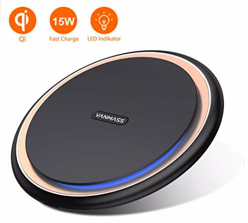 Vanmass Wireless Charger mit LED Indikator für 20,98€ inkl. Prime Versand