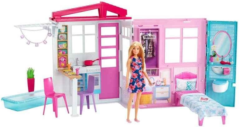Barbie Ferienhaus mit Möbeln und Puppe für 24,98€ inkl. Versand (statt 27€)
