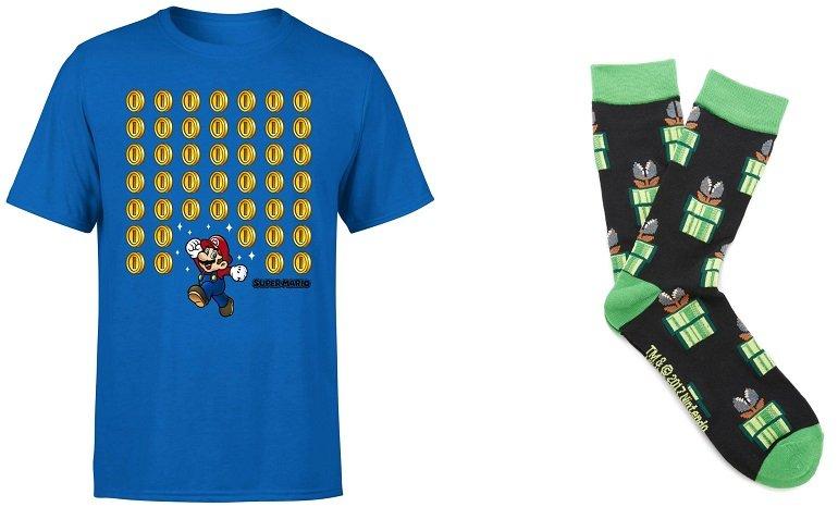 Nintendo Super Mario T-Shirt Socken