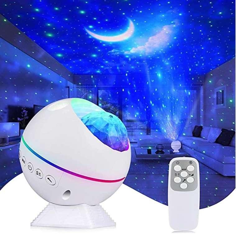 Kirapure LED Sternenhimmel Projektor mit 360° Drehung, Fernbedienung & Timer für 18,59€ (statt 31€)