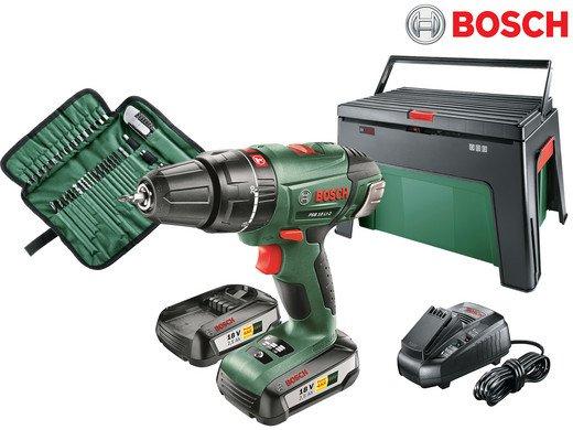Bosch PSB 18 LI-2 Akku-Schlagbohrmaschine mit 2 Akkus + Ladegerät für 155,90€ inkl. VSK