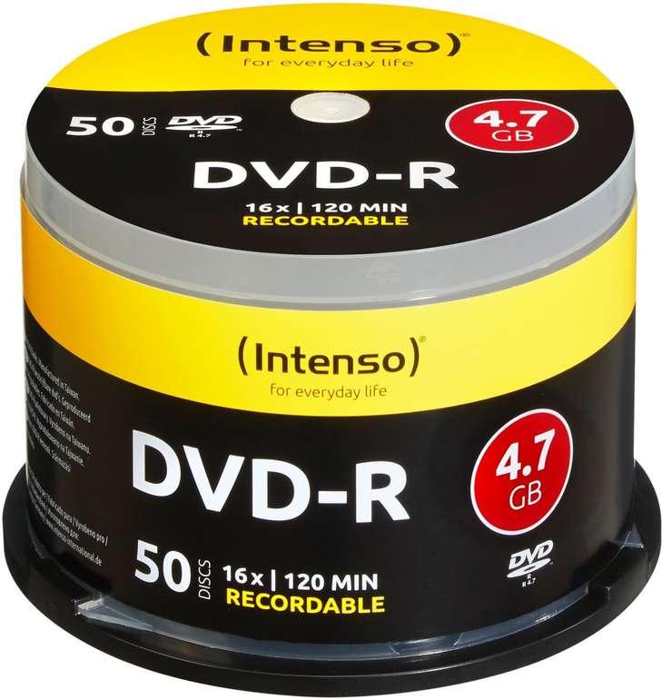 Intenso DVD-R 4,7GB Rohlinge (120 Min) für 6,82€ inkl. Versand (statt 15€)