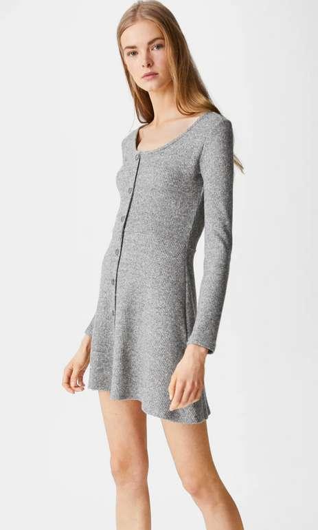 C&A Clockhouse Kleid in grau für 11,25€ inkl. Versand (statt 18€)