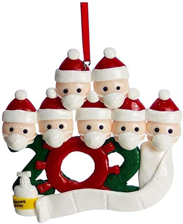 Zwxin Baumschmuck Weihnachtsmänner mit Mundschutz (verschiedene Designs) für 4,26€ inkl. Versand (statt 14€)