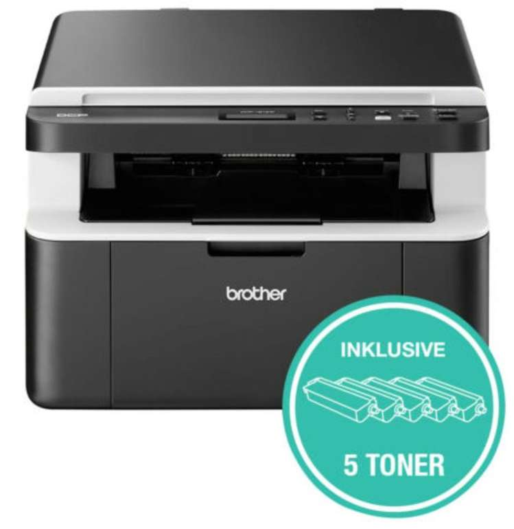 Brother DCP1612W - 3-in-1 WLAN Multifunktions Laserdrucker + 5 Toner für 139,90€ inkl. Versand (statt 159€)