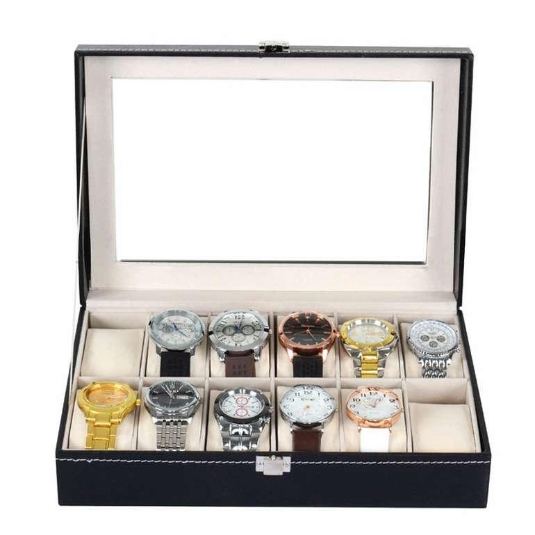 Mbuynow Uhrenbox aus Kunstleder für 12 Uhren für 10,99€ (Prime)