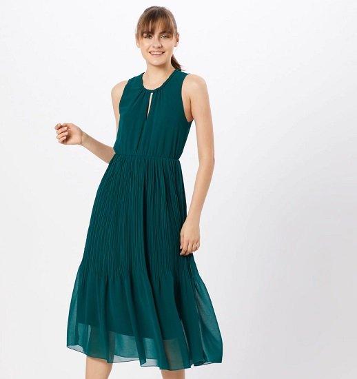 About You Kleid Paola in Dunkelgrün oder Rot für 22,43€ (statt 42€)