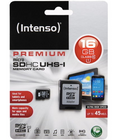 Intenso Micro SDHC Karte, 16GB, Class 10 SD Card inkl. Adapter für 6,99€