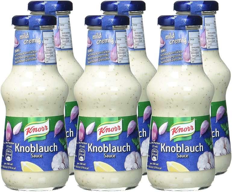 6er Pack Knorr Schlemmersauce Knoblauch (mit Zwiebelstückchen und Joghurt) für 3,90€ mit Prime Versand