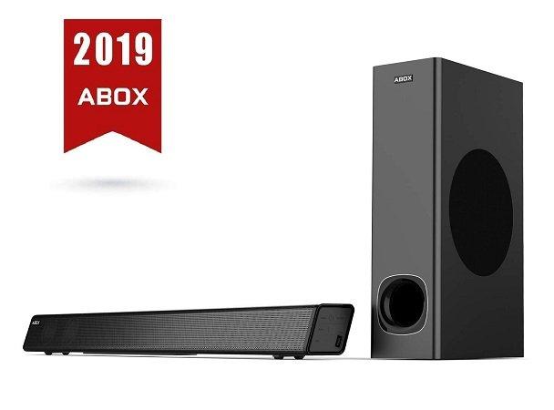 2 Abox Produkte günstiger dank Gutschein, z.B. 2.1 Soundbar mit Subwoofer 76,99€