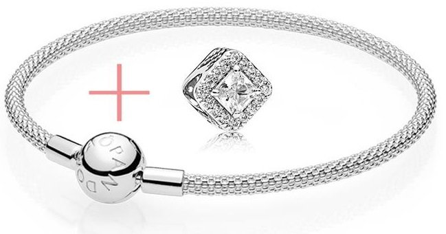 Pandora Set Geometrischer Glanz 925er Silber für 75,65€ (statt 103€)