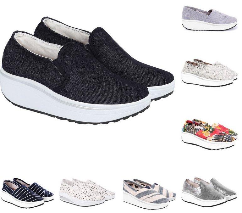 Größe 40 hell im Glanz ausgewähltes Material LBC by Lesara Damen Fitness-Sneaker und Sportschuhe für je 19,99€