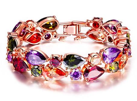 Kami Idea Mona Lisa Damen Armband Rose vergoldet mit Kristallen für 19,99€